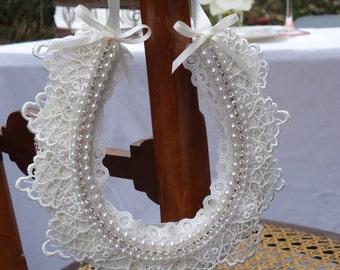 Personalised wedding gift for couples- Vintage style wedding horseshoe decoration