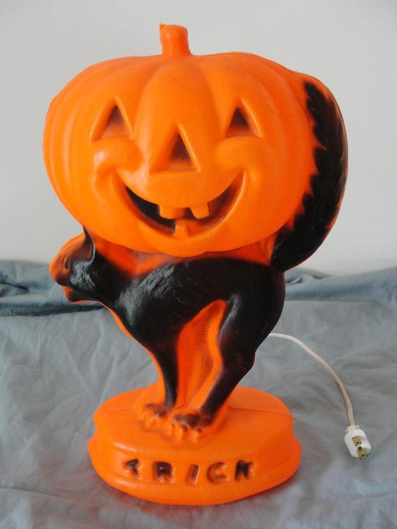 Vintage Halloween Decoration Blow Mold General Foam Plastics