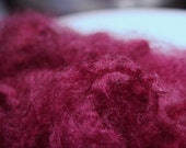 "Wool Fleece Locks Hand Dyed Saturated Fushcia ""Lipstick"""