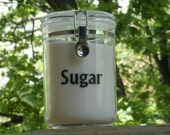 Custom Labels for canisters, jars, boxes, organization, kitchen, bathroom, etc.- Set of 6- FREE SHIPPING