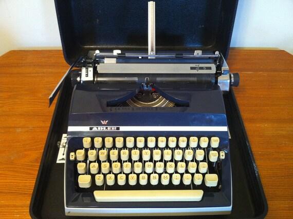 "Enter Coupon Code ""ANNIVERSARYSALE"" for 15% off this week only - Vintage Adler J5 Manual Typewriter"