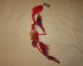 FREE shipping: Feather Hair Extension in Red/Brown