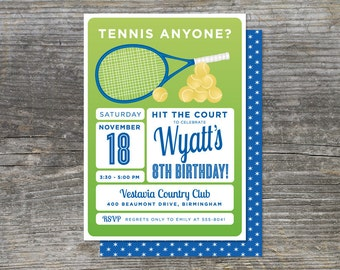 Tennis Birthday Invitation, Tennis Anyone (15)
