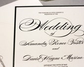 Elegant Swirl Black and White Wedding Invitation Suite by Forget Me Knot Paperie