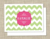 Chevron Fold Over Notecard (12 count)