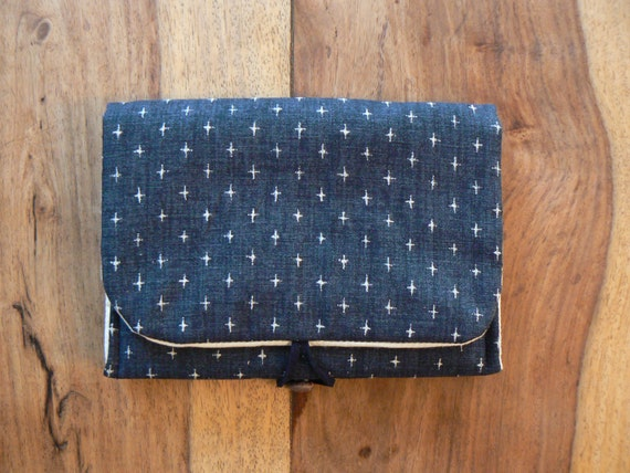 Padded Double pocket Pouch - Cotton printed.