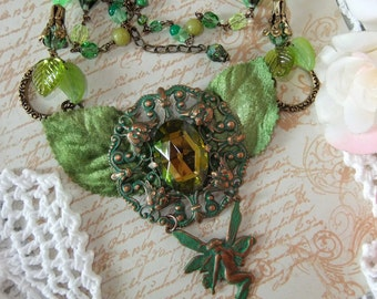 Faerie in Greens and Green Ox Brass