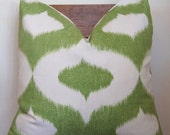 Ikat Green Duralee Dalesford 24x24 Pillow Cover