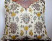 Grey Ikat Designer Pillow Size 20x20