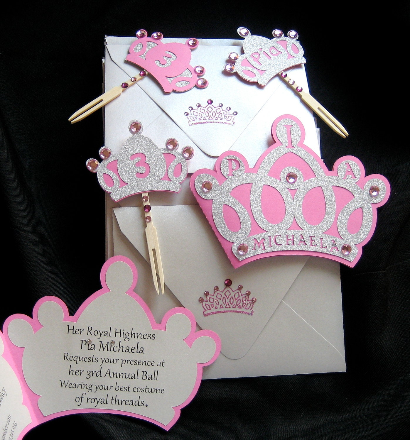 Princess Party Invitation Template with nice invitations example