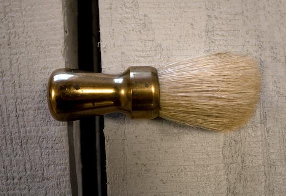 Vintage Brass Shaving Brush