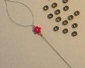 Threading tool 15 beads and instructions for hair extensions