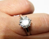 1.50ct H SI2 EGL Round Cut Solitaire Engagement Wedding Ring in 14k white gold