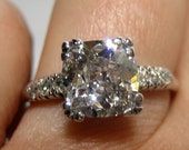 1.79ct Cushion Old Mine, to Old European, Transition Cut Diamond In Circa 1920 Art Deco Original Diamond Engagement ring