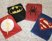 Eco-Friendly Super Hero Cape Choose Your Own CHARACTER Spiderman Batman Superman Flash Captain America