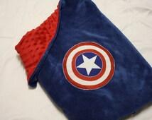 Super Hero Blanket Cape: Captain America Super Blankie