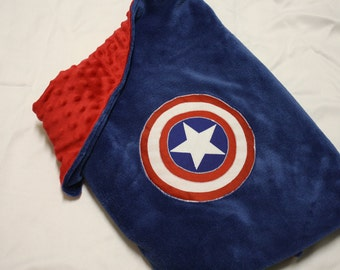ADULT SIZED Super Hero Blanket Cape: Captain America Super Blankie