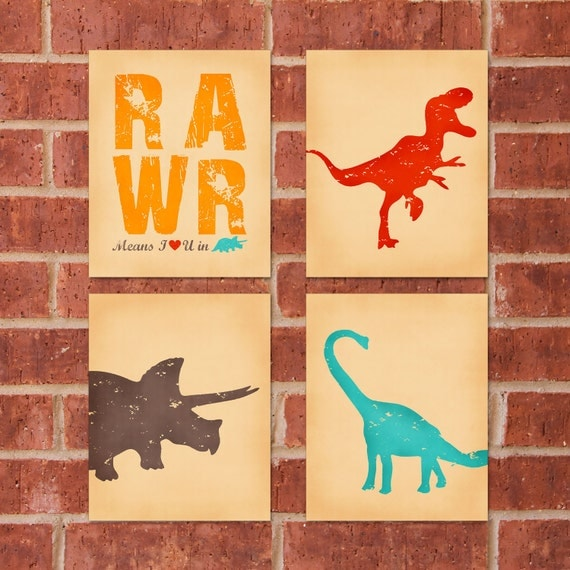 Dinosaur Art Print - 8x10 - RAWR Bundle - Buy 3, Get 1 Free