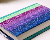 A6 Strippy Note Book Cover in Blue, Purple and Green