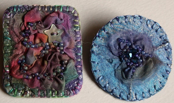 Embroidered Brooch Pins - Choose One - Group E