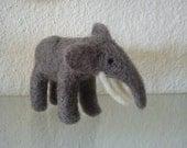 Needle felted miniature elephant