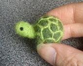 Needle felted miniature turtle