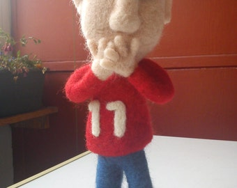 Mark an OOAK needle felted doll eco friendly