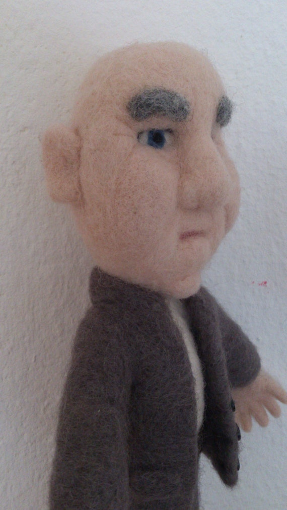 Felted doll Mr. Smith an OOAK needle felted doll anniversery gift retirement gift for men eco friendly