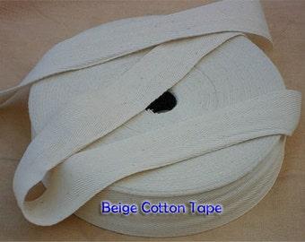 Natural Beige  Cotton Tape Trim 20 mm ( 3/4 Inch ) wide