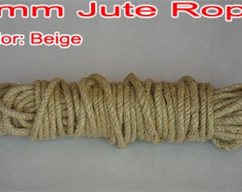 4 mm Thick x 5 meter Jute String / Rope / Tie / Strap/Band/Cord for gift wrapping, packaging or any crafts Projects