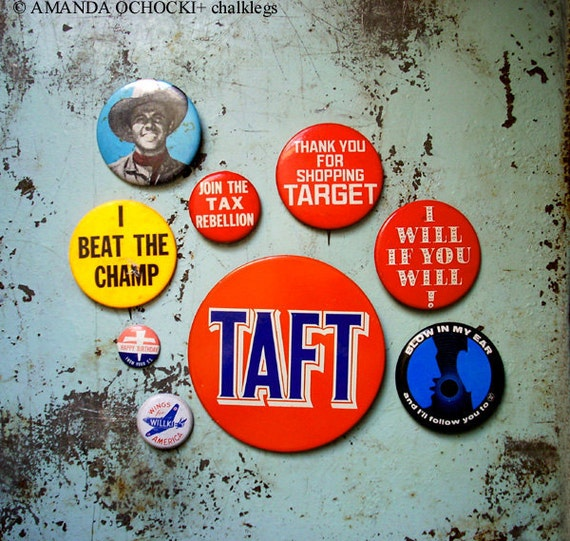 Statement & Political Pinback button collection