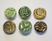 Fridge Magnets - Set of 6 - Handmade Ceramic Refrigerator Magnets