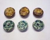 Set of Fridge Magnets - Handmade Ceramic - Gift Wrapped