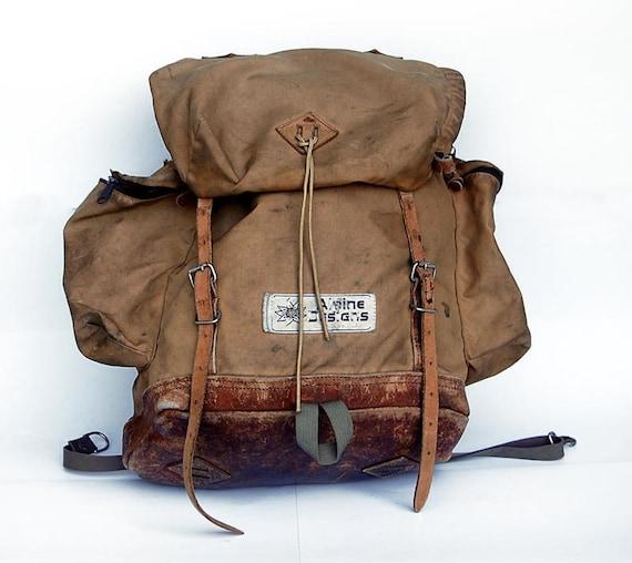Vintage Camping Backpack