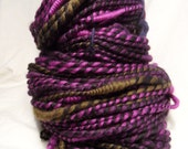 Handspun Merino 2ply yarn with Coils, 120 yards, 163g / 5 3/4 oz