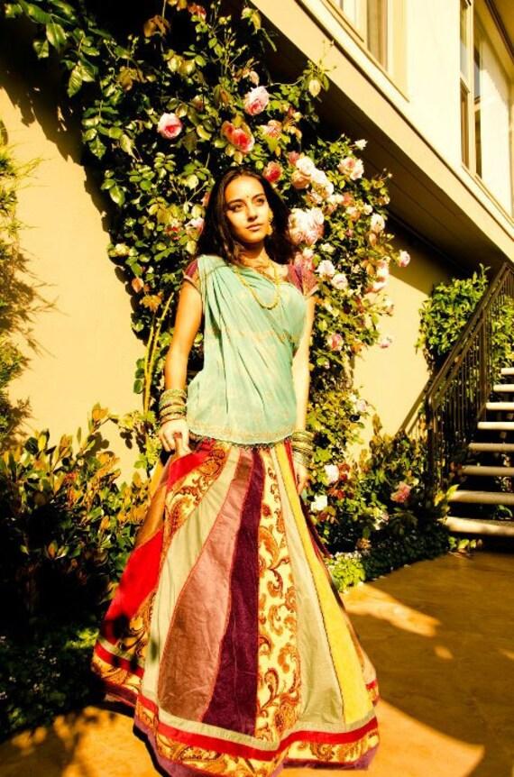 Indian Ethnic Skirt - OOAK Patchwork