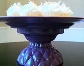Cake Stand, Plum Purple