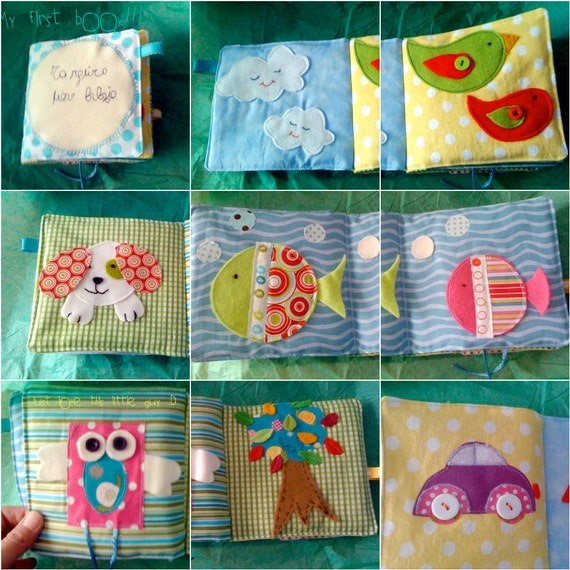 Patchwork Book Covers: Baby's First Fabric Book Quiet/soft Book