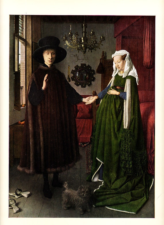 1958 vintage art print by Jan van Eyck suitable for framing or use in new upcycling projects