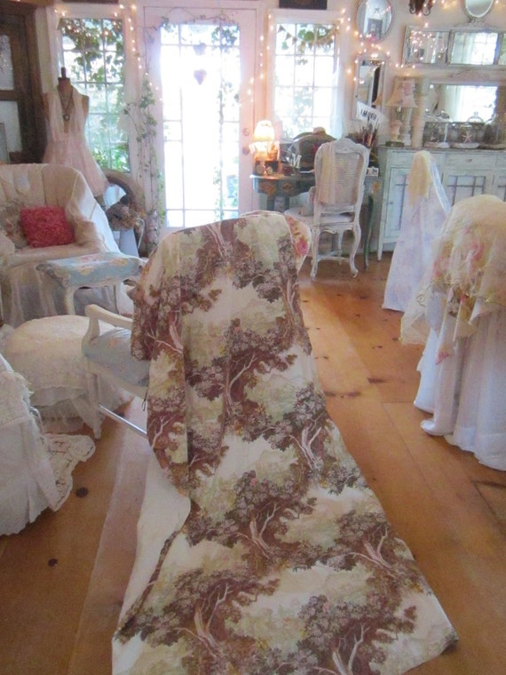 Beautiful french cottage curtain panel