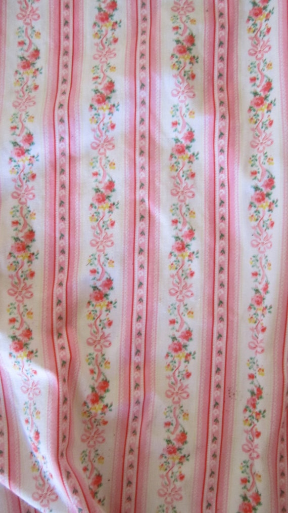 RESERVED Beautiful English pink roses curtain panel