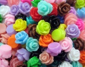 20 Pcs - Rose Cabochons - 7.5mm in diameter, 6mm thick