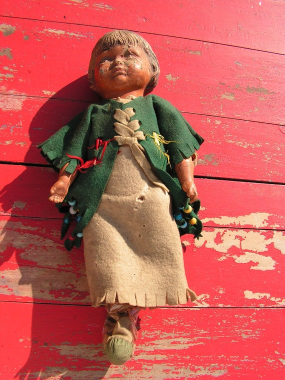 1910 Trion Toy Company Indian Composite Doll