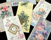Set of Seven Vintage 1950's Greeting Cards w. Metallic Ink, Embossing, Die-Cuts, Glitter, More