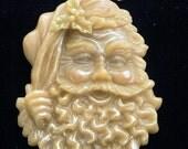 Handmade Artisanal Beeswax Ornament - JOLLY ST. NICK