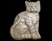 Handmade Artisanal Beeswax Ornament - SITTING CAT