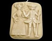 Handmade Artisanal Beeswax Ornament - GEORGE & MARTHA WASHINGTON