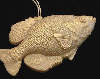 Handmade Artisanal Beeswax Ornament - FISH / Genus Crappie