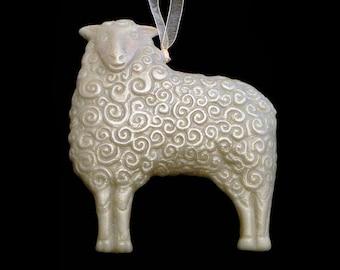 Handmade Artisanal Beeswax Ornament - SHEEP or LAMB