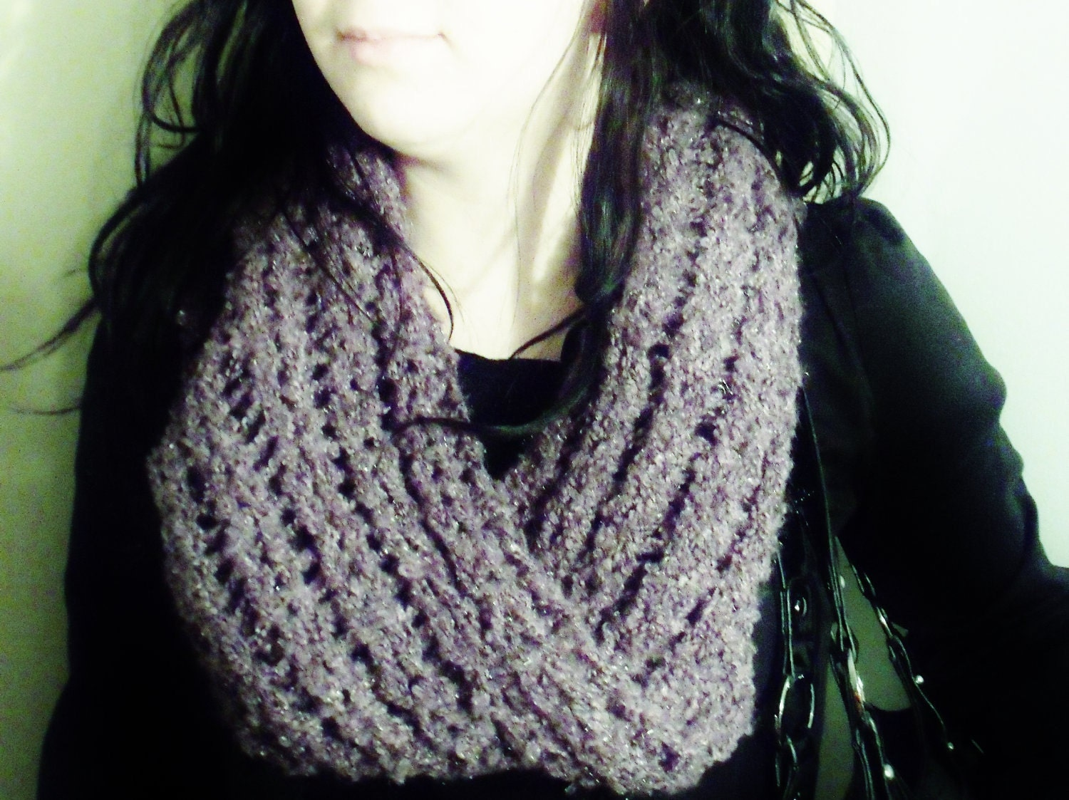 Scarf Patterns On Knitting Loom : Items similar to Mobius infinity scarf LOOM KNITTING ...
